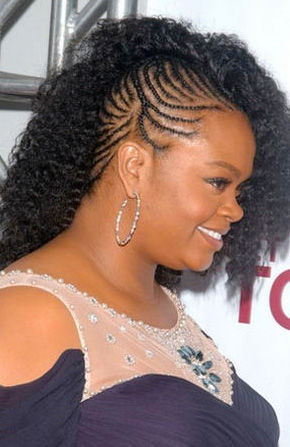 handsome boys hairstyles : Curl of the Day: Jill Scott?s Fab Cornrows Diamonds & Curls