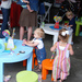 The kids enjoyed the tiny Grace Tables and Stools from Jennifer Delonge.