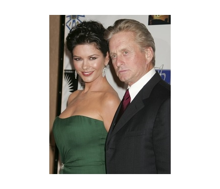 Catherine Zeta-Jones, 38 and Michael Douglas, 63