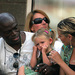 Leni with parents, Seal and Heidi Klum