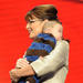Republican U.S vice-presidential nominee Alaska Gov. Sarah Palin holds her son Trig Palin on stage during day three of the Republican National Convention (RNC) at the Xcel Energy Center on September 3, 2008 in St. Paul, Minnesota.