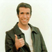 "Fonzie, ""Happy Days"": Played by Henry Winkler. Most of his identity was based on his way with the ladies. Return to Famous Sex Addict"