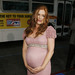 Isla Fisher, five months pregnant