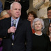 Presidential hopeful Senator John McCain and his proud mother Roberta are pictured at a campaign appearance in Massachusetts.