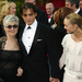 Johnny Depp with Mom Betty Sue (L) and Girl Friend Vanessa Paradis (R)