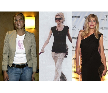 Left: Kristen Johnston in New York City for the Sex and the City Party in June 2003. Middle: Kristen Johnston walking her dog in early 2008. (Photo: People) Right: Kristen Johnston in October 2008 (Photo: WireImage)