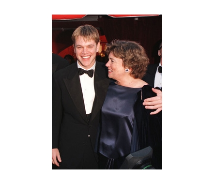 Matt Damon with Mom Nancy