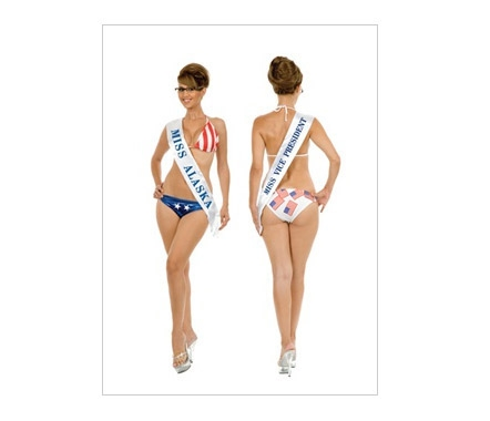 This Sarah Palin pageant costume is available for $22.99 at Ricky's Halloween Costume Superstore.