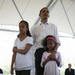 Senator Barack Obama attended a family picnic in Indiana with his daughters 9-year-old Malia and 6-year-old Sasha.