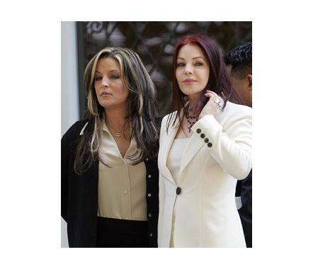 Mom Priscilla Presley (60's) and daughter (40) Lisa Marie Presley