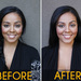 Before: One brow is higher than the other, creating a lazy eye. After: Using Anastasia's eye-shapers will help make your eyes look even. Click to see brows up close