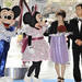 A Japanese couple renewed their vows with Mickey and Minnie as witnesses.