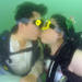 This couple got married underwater on Valentine's Day.